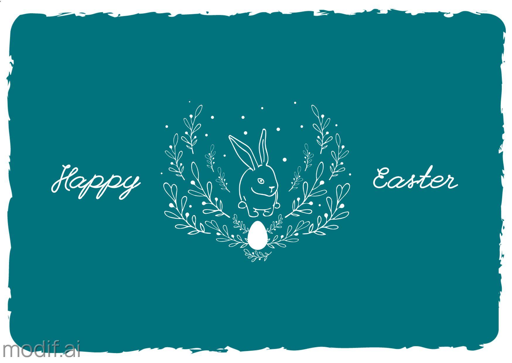 Minimalist Easter Greeting Card Template
