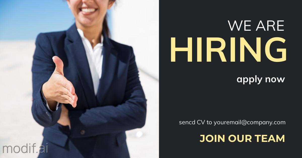 Job Hiring Ad LinkedIn Post Template