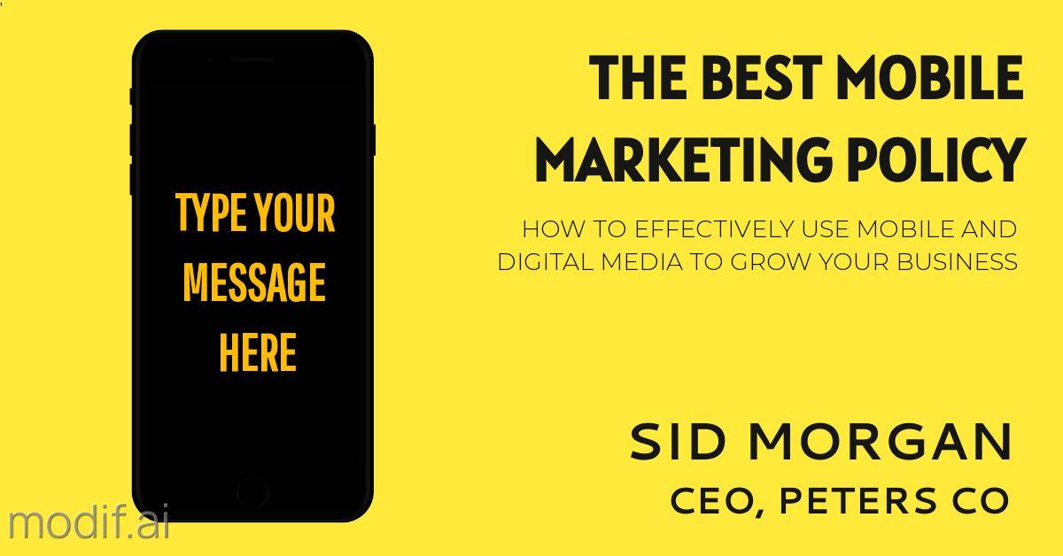 Mobile Marketing LinkedIn Post Template