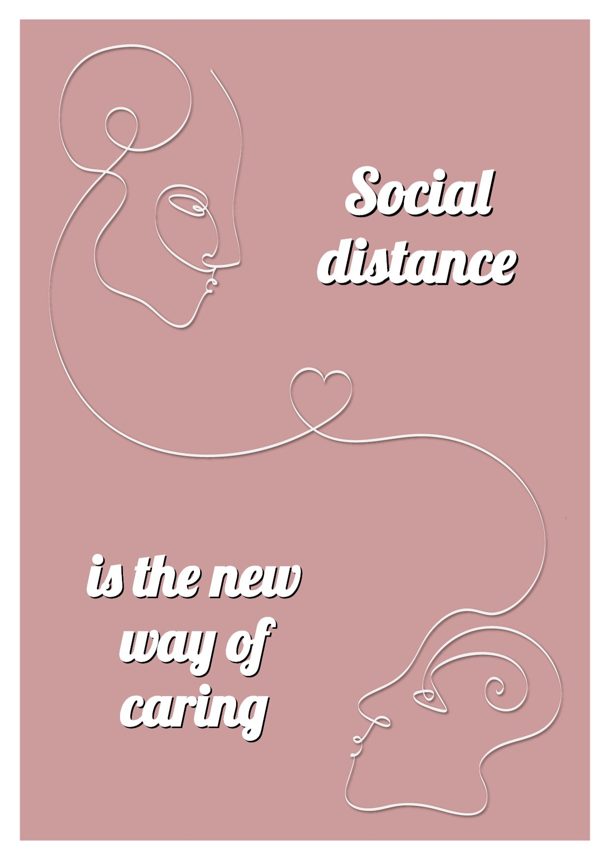 Social Distance Greeting Card Template