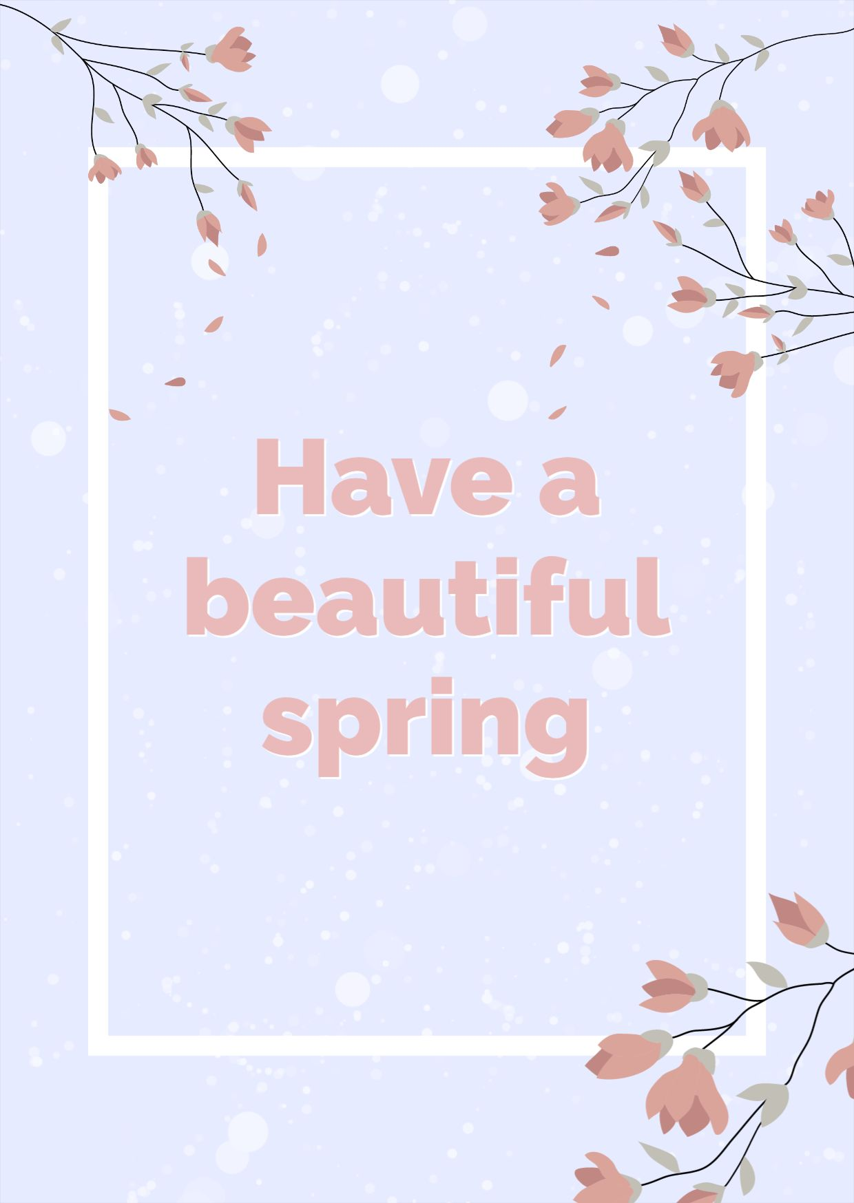 Spring Greeting Card Template