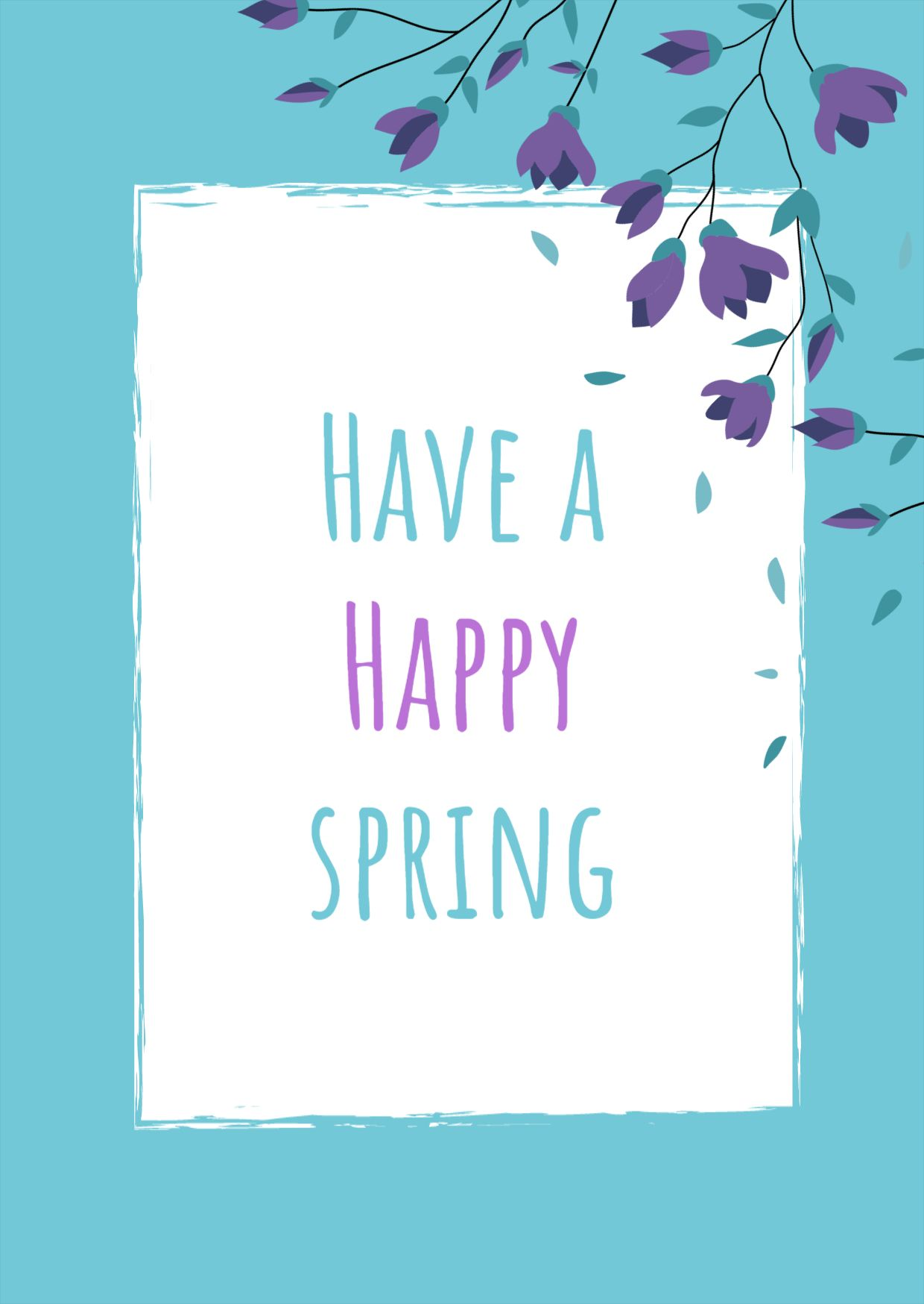 Blooming Spring Greeting Card Template