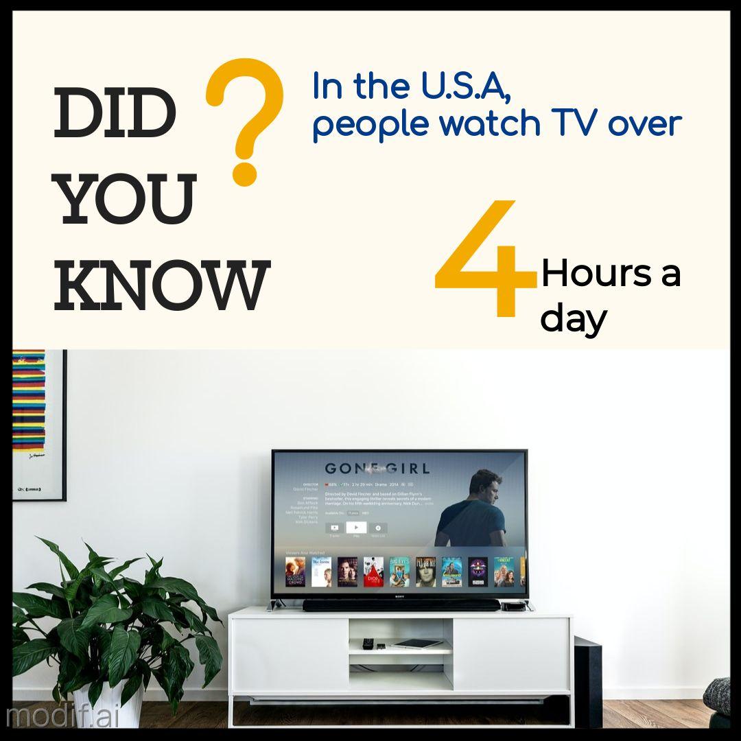 TV Statistics Instagram Post Maker