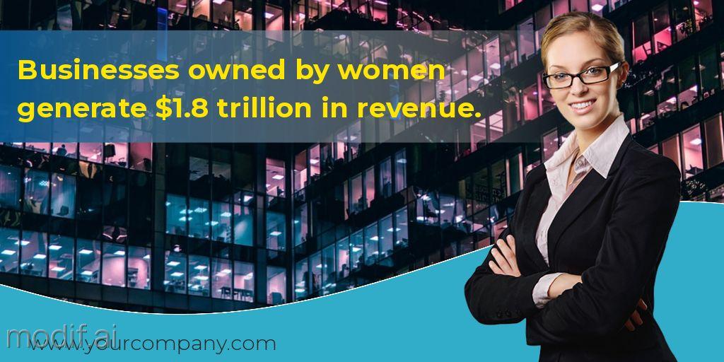 Businesswoman Statistics Template