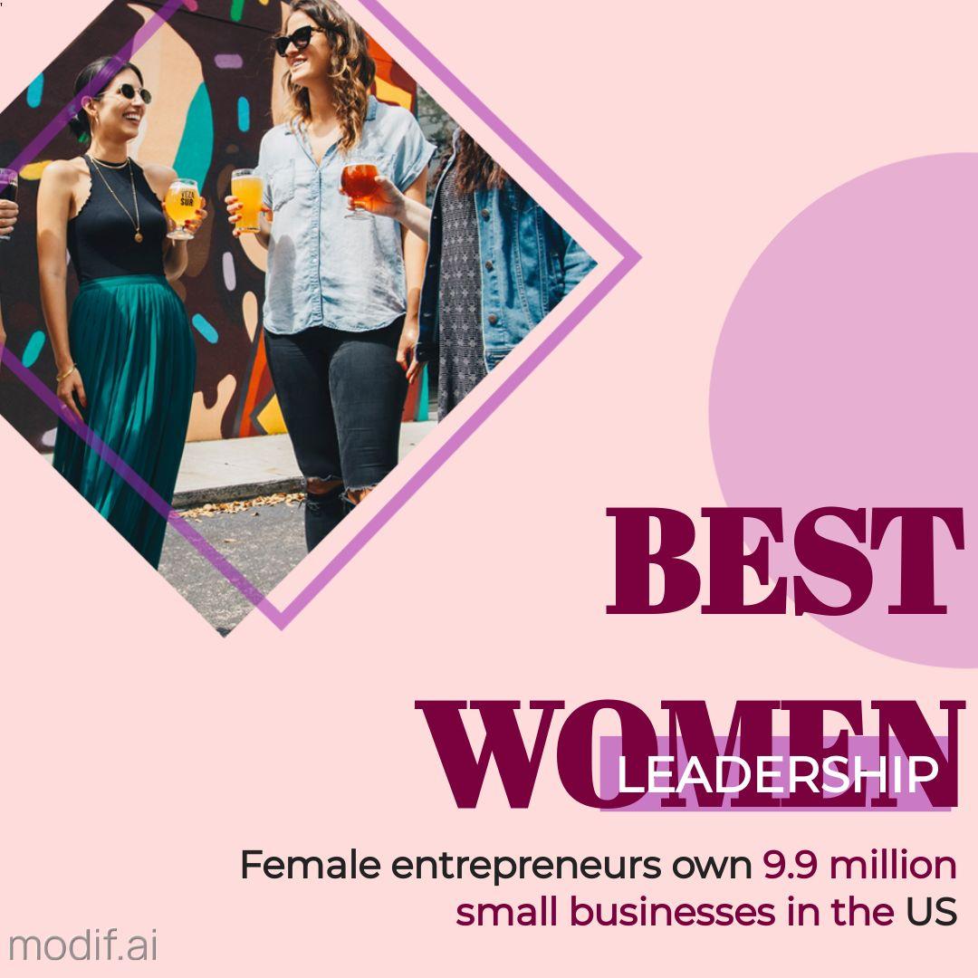 Women Empowerment Statistics Post Template