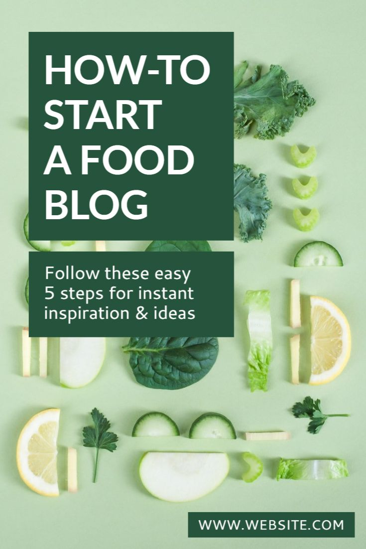 Food Blog Pinterest Pin Template
