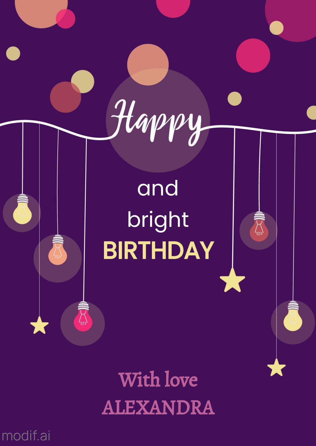Birthday Lights Greeting Card Template