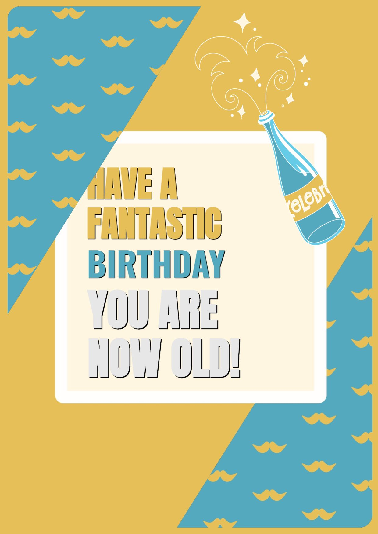Birthday Celebration Greeting Card Template
