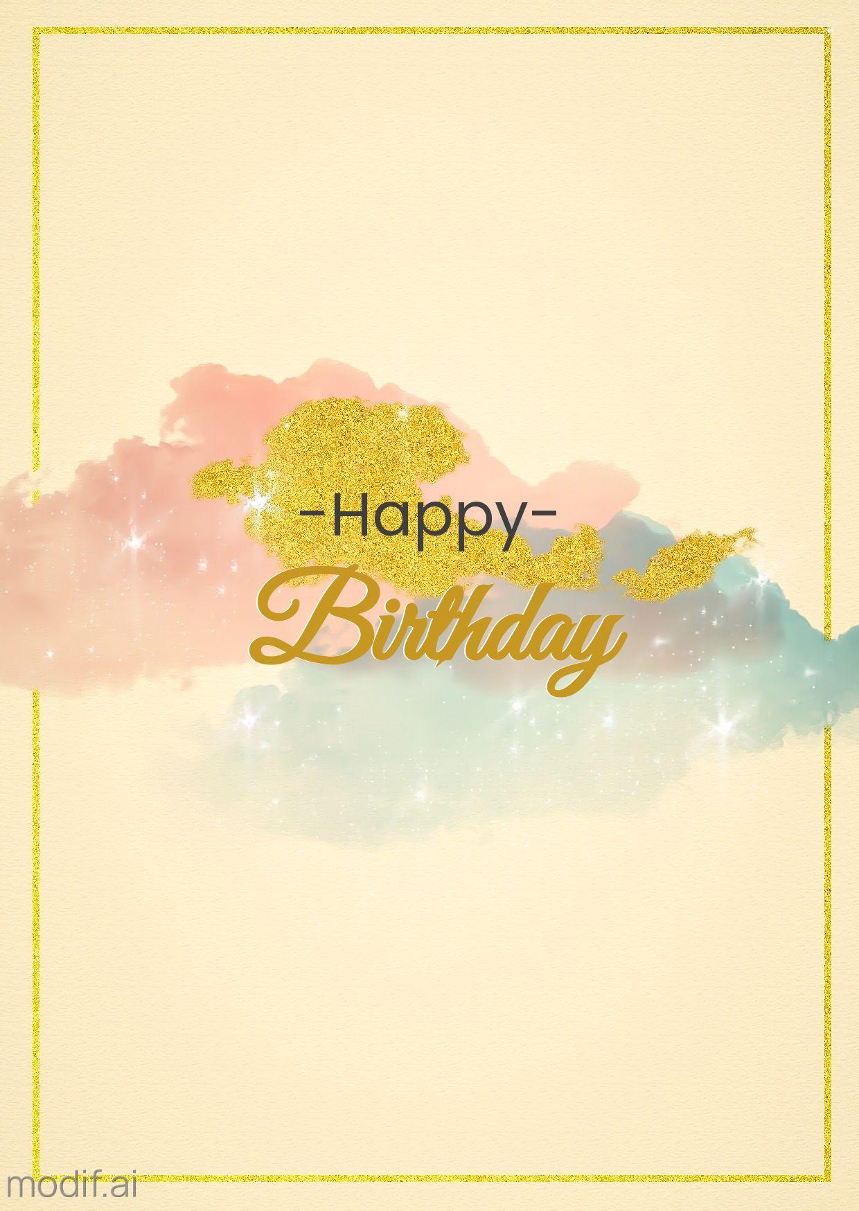 Sparkling Birthday Greeting Card Template