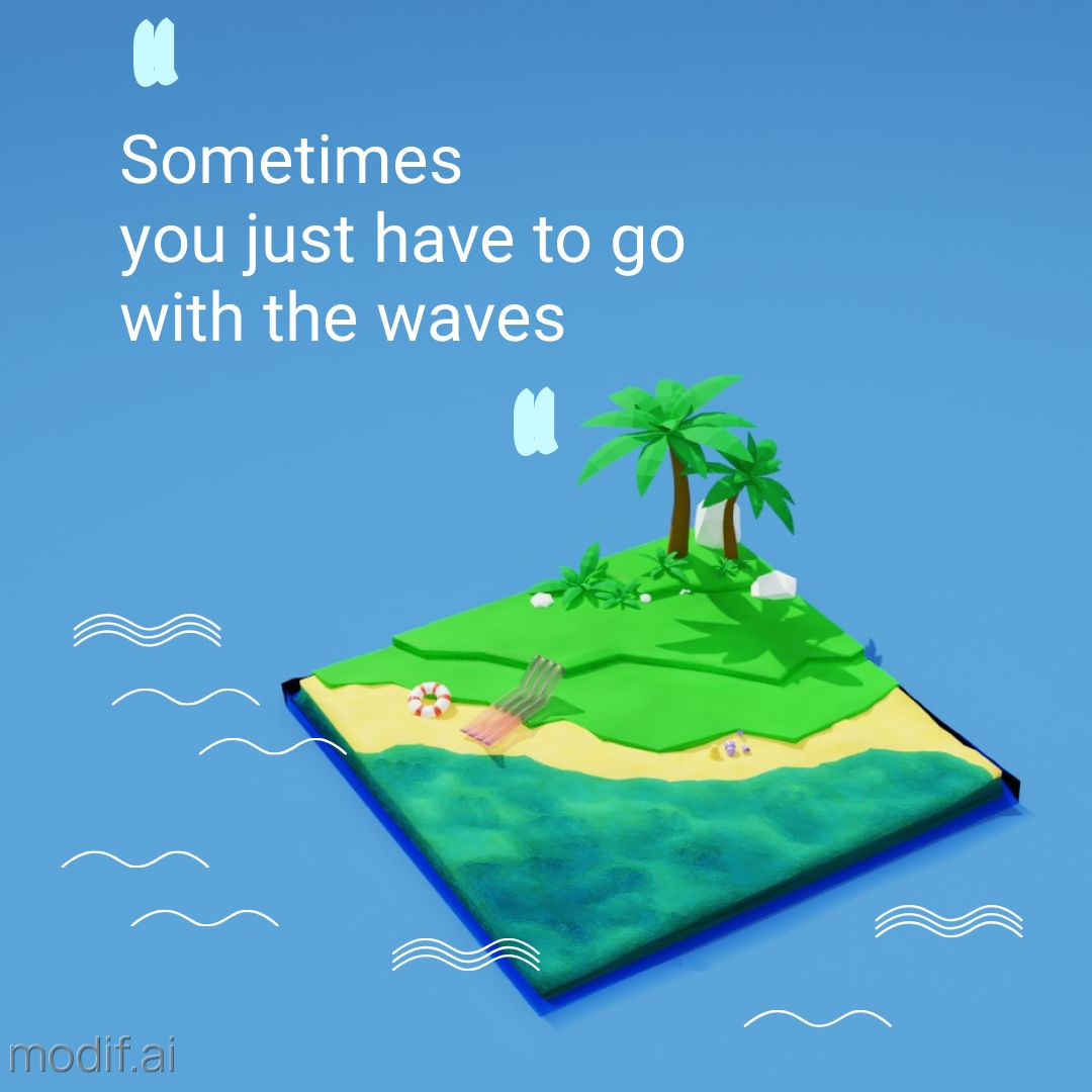 Summer Beach Quote Instagram Post