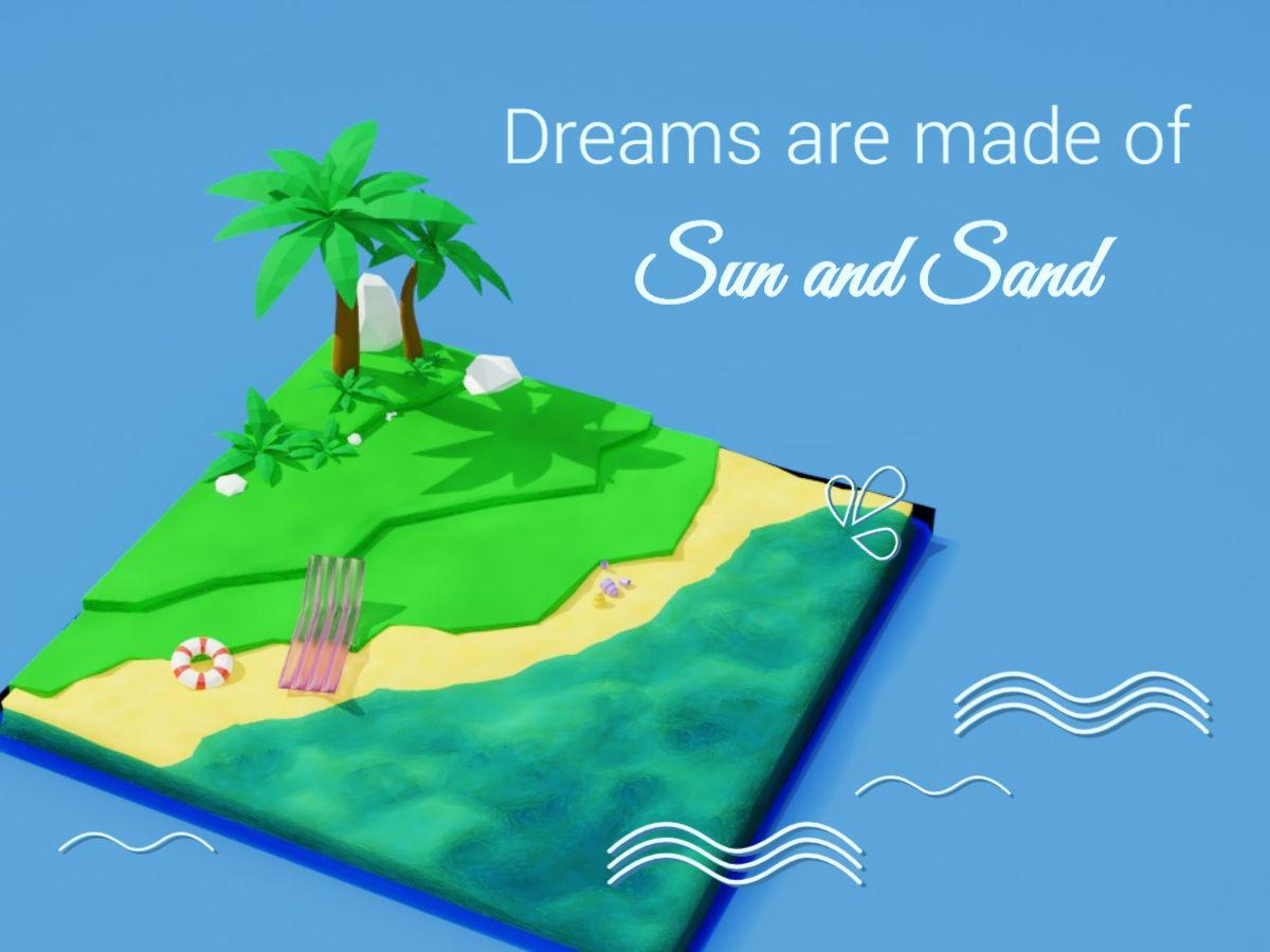 Tropical Island Facebook Post