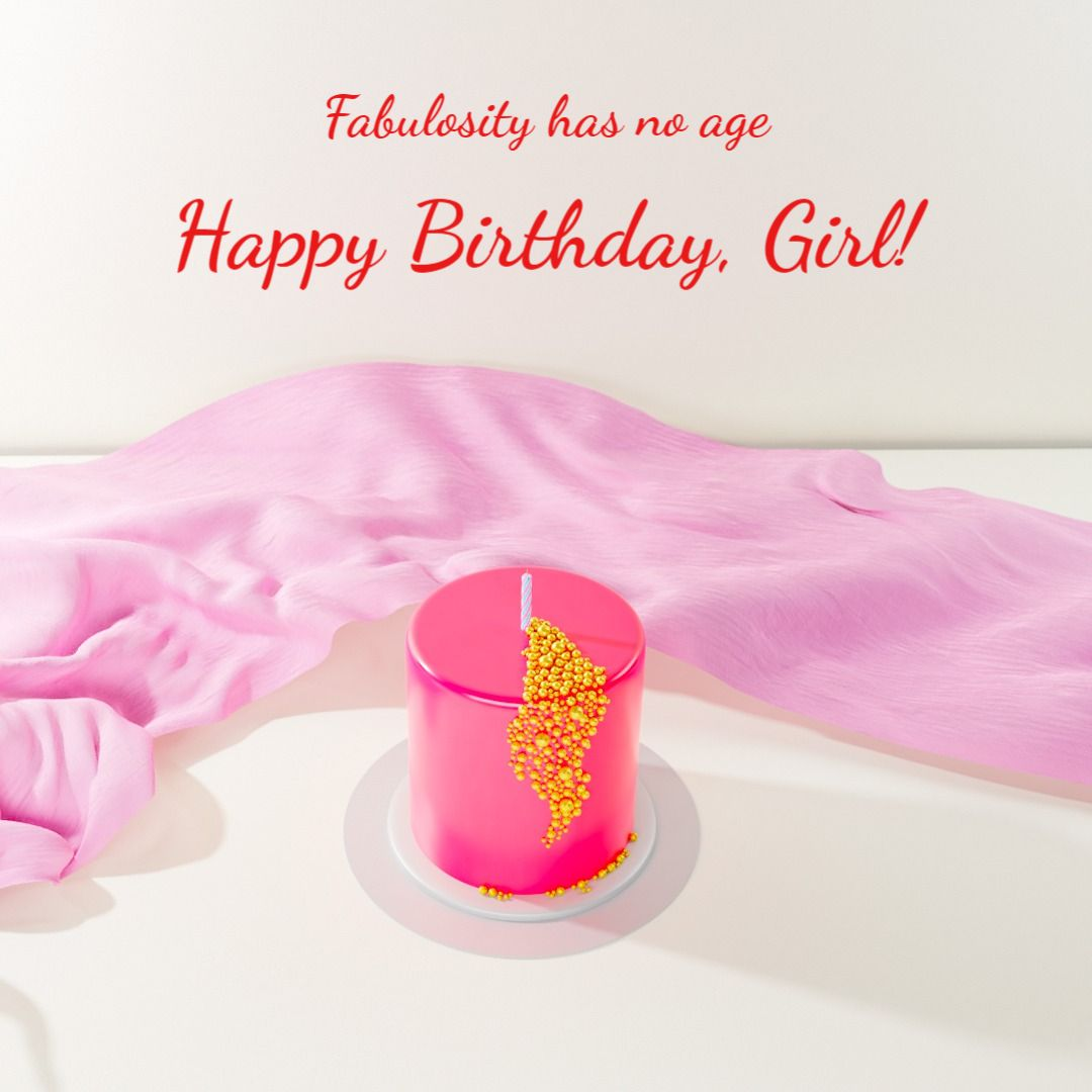 Pink Birthday Greeting Instagram Post