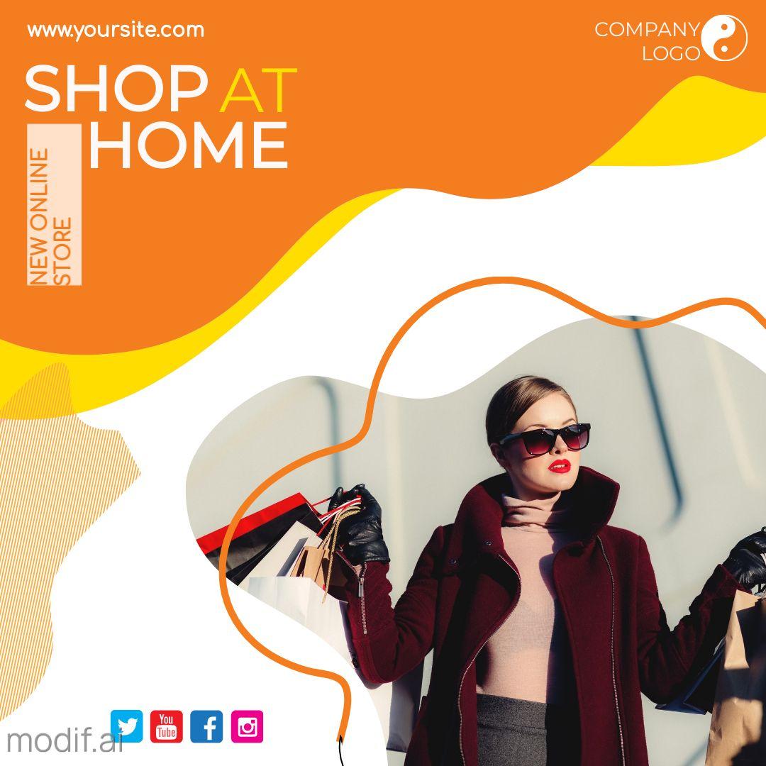 Shop at Home Instagram Post