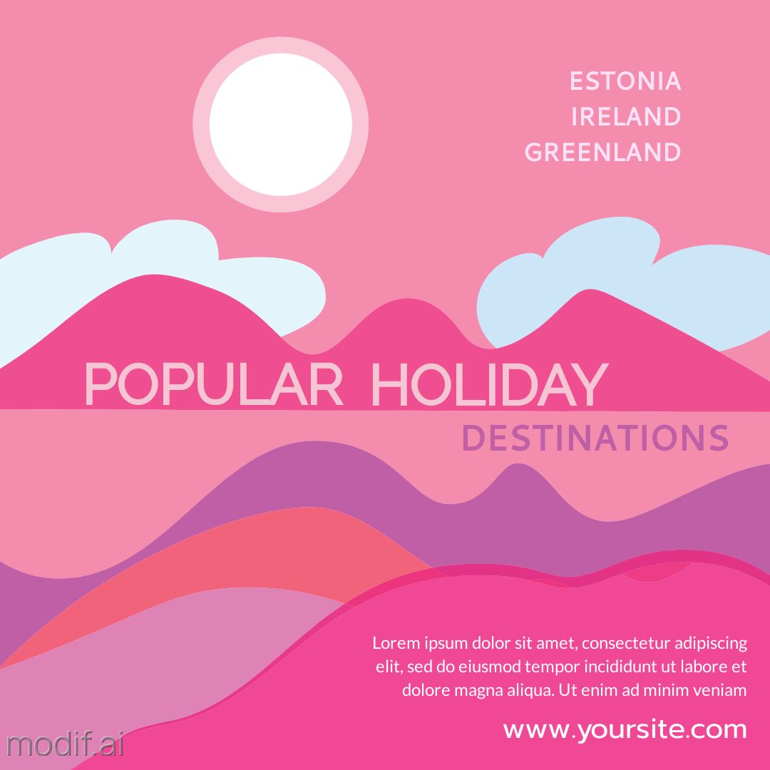 Holiday Destinations Instagram Template
