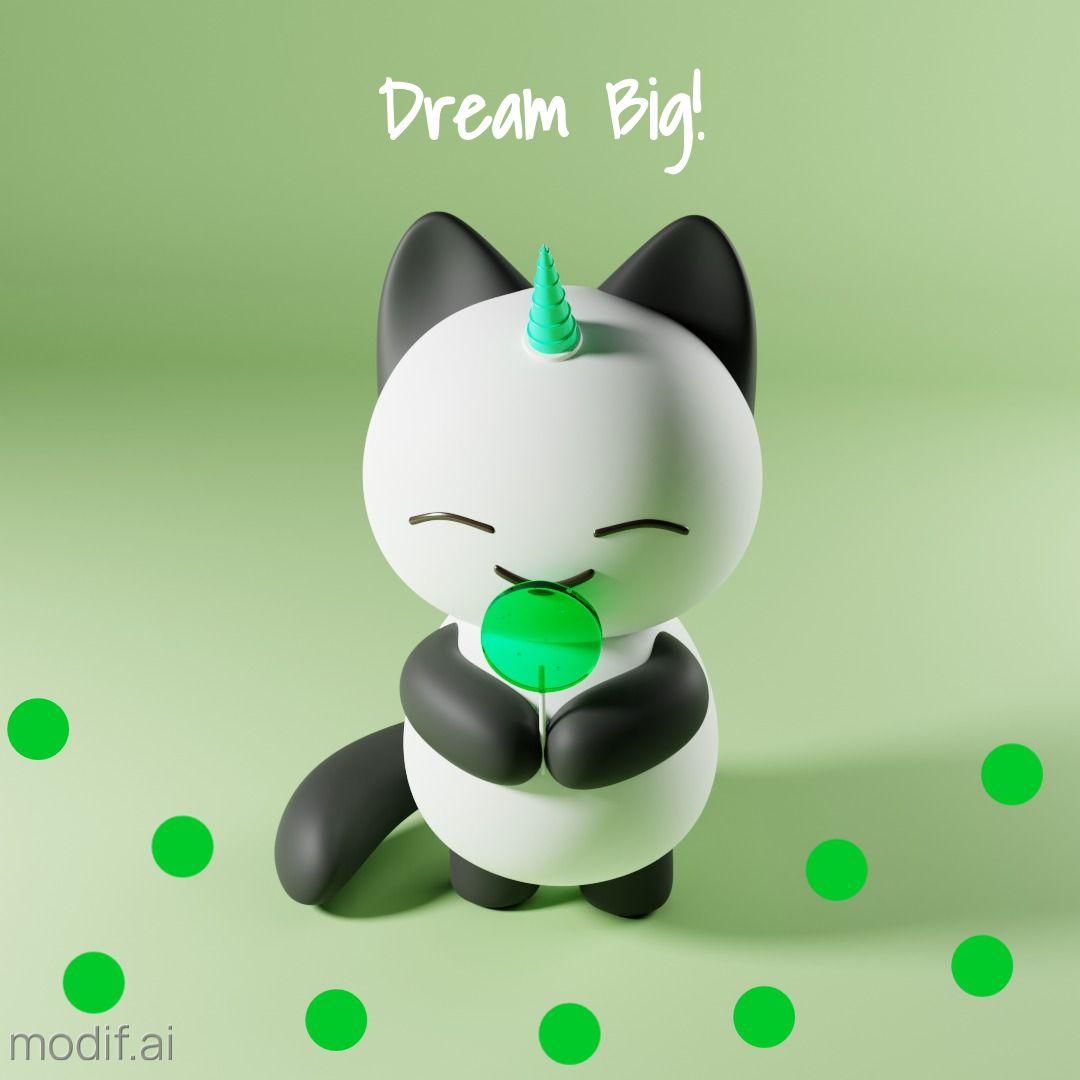 Fantasy Happy Kitten Instagram Post