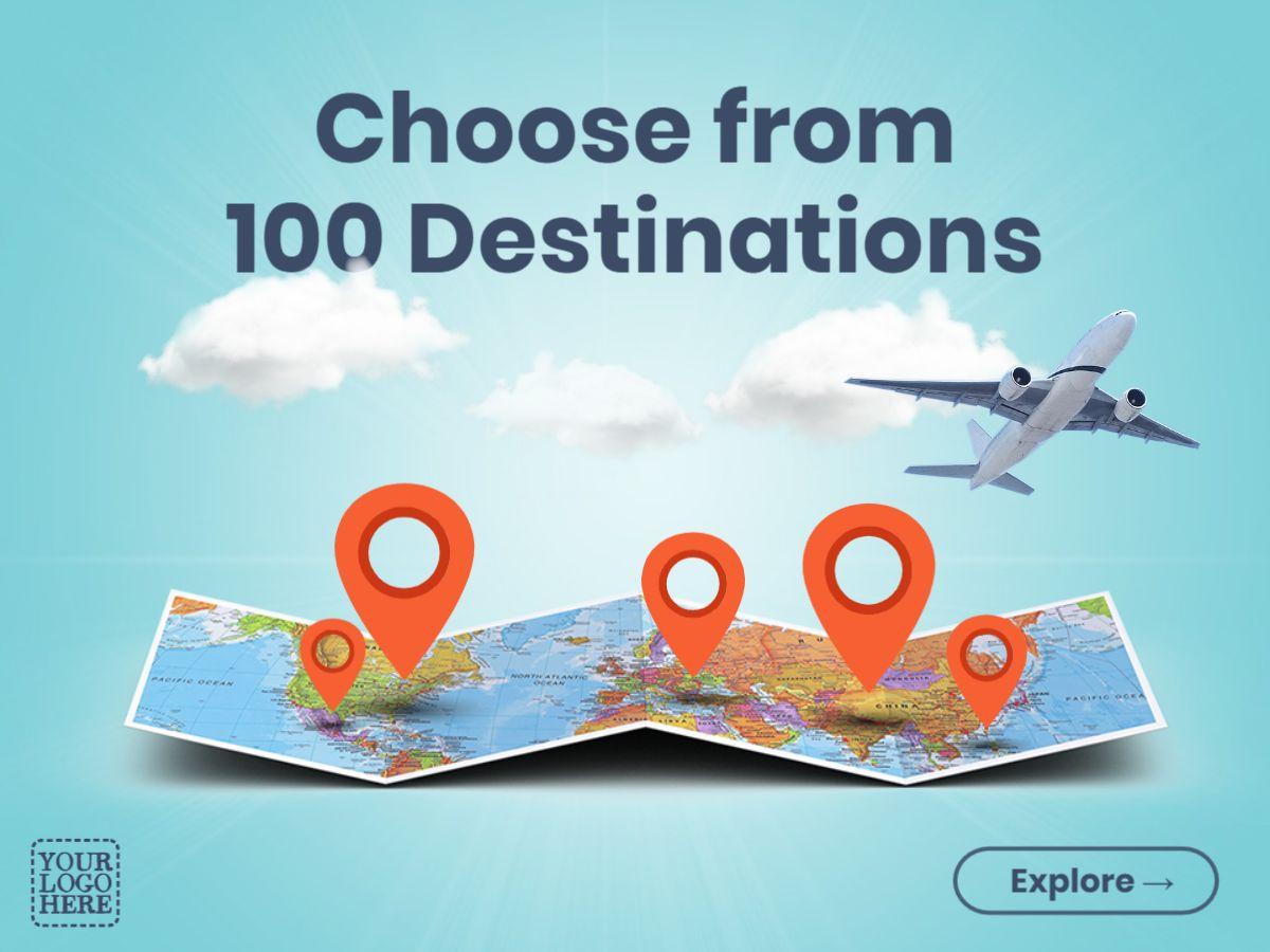 Vacation Booking Facebook Post Design