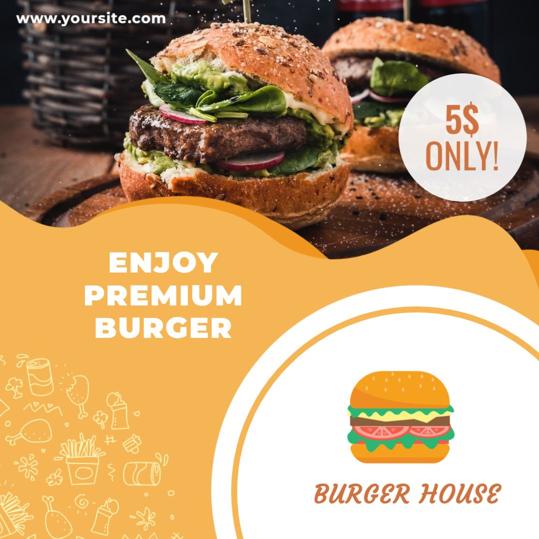 Premium Burger Banner Template