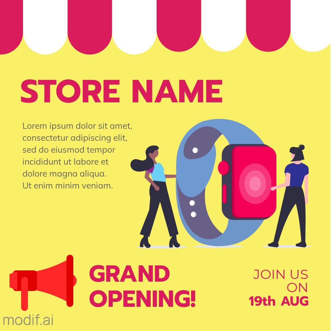 Store Opening Instagram Post Maker