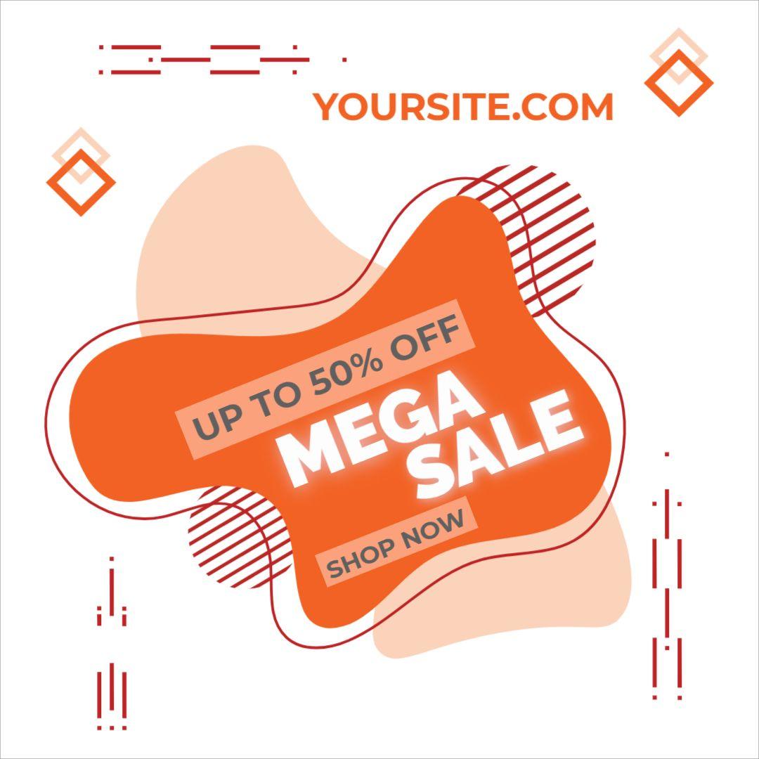 Mega Sale Discount Banner Template