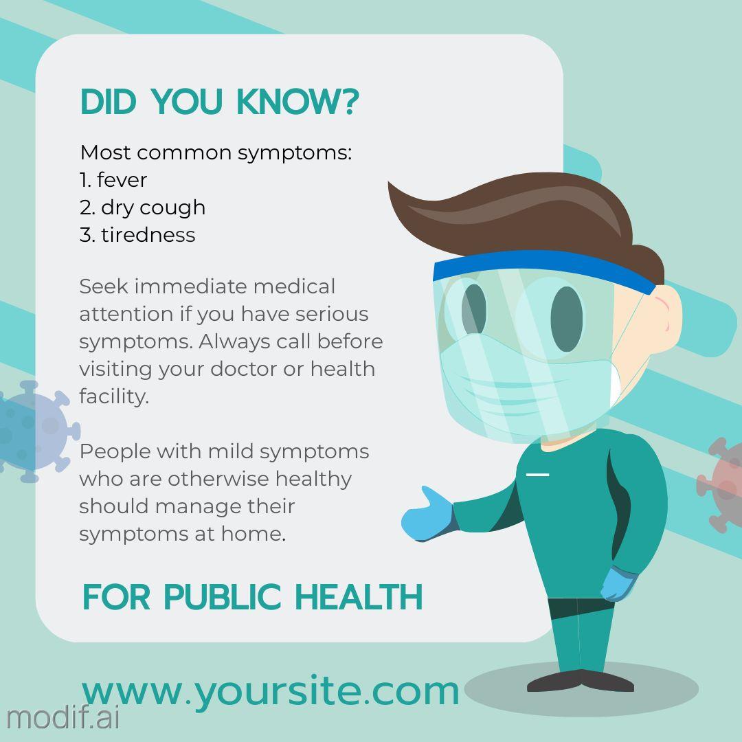 COVID Symptoms Instagram Post Maker