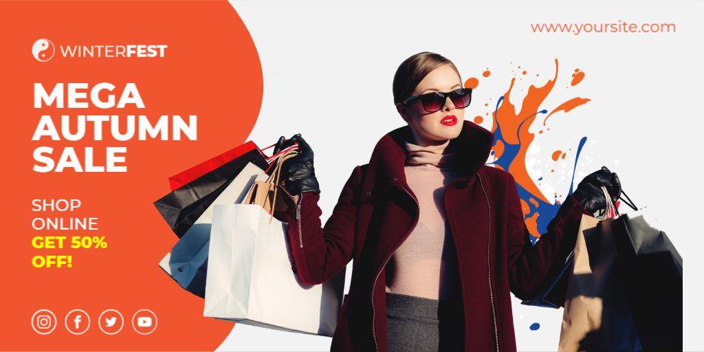 Fashion Sale Twitter banner Maker