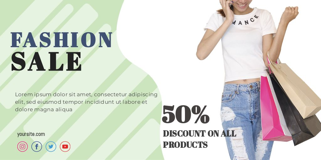Fashion Discount Twitter Share Image