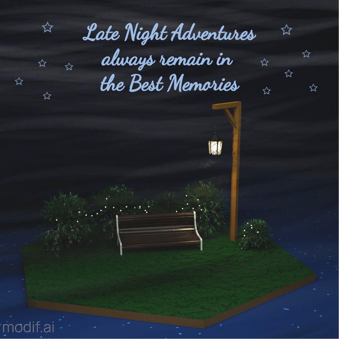 Summer Night Instagram Post
