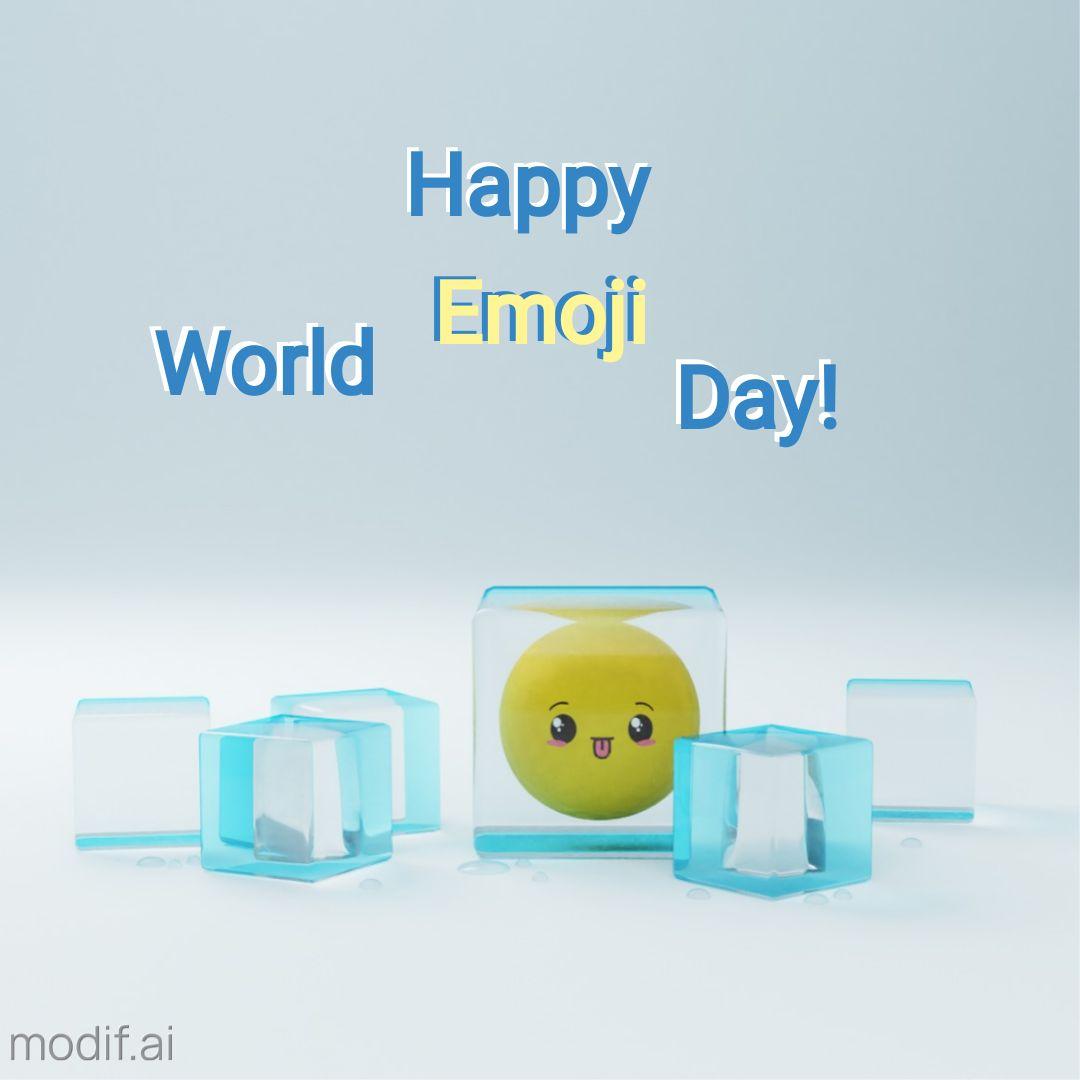 World Emoji Day Greeting Instagram Post