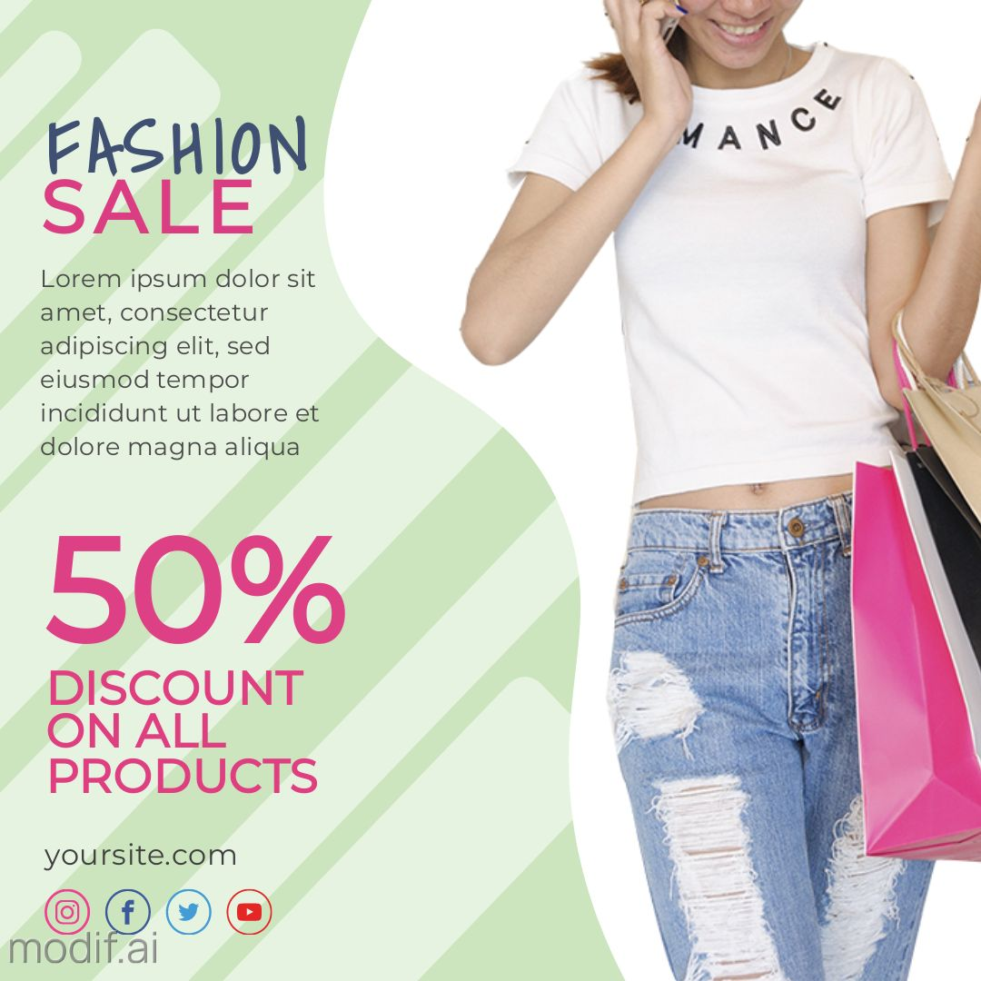 Fashion Discount Banner Template