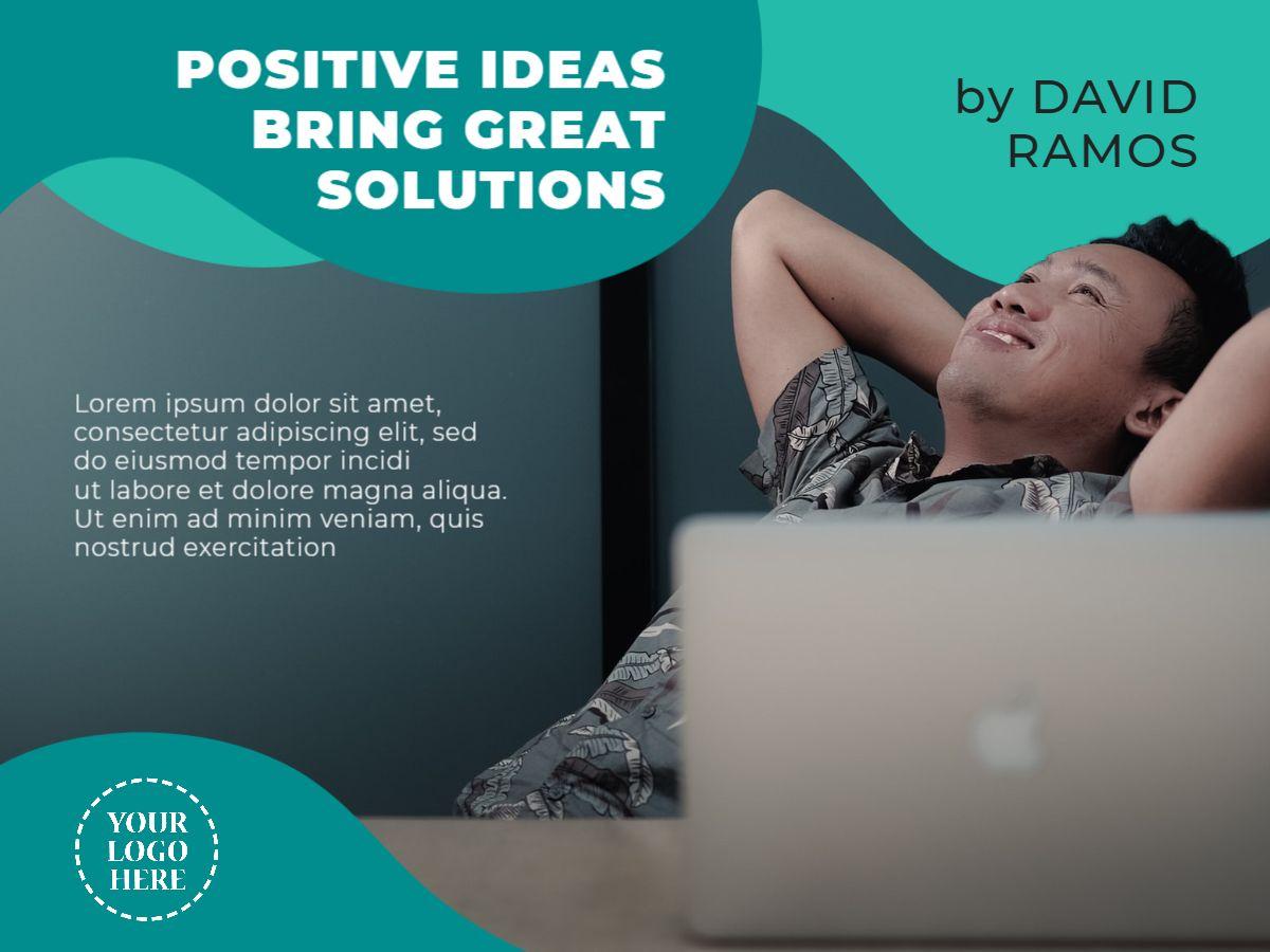 Positive Ideas Twitter Post