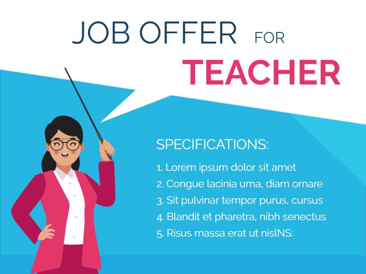 Teacher Job Offer Facebook Post