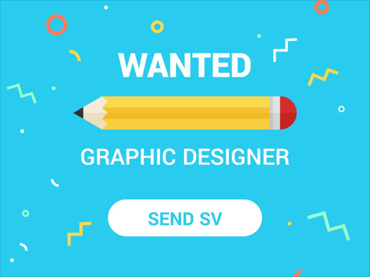 Wanted Graphic Designer Facebook Post