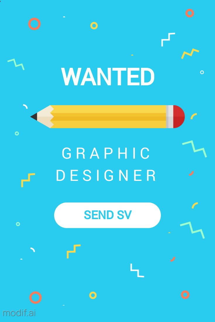 Wanted Graphic Designer Pinterest Pin