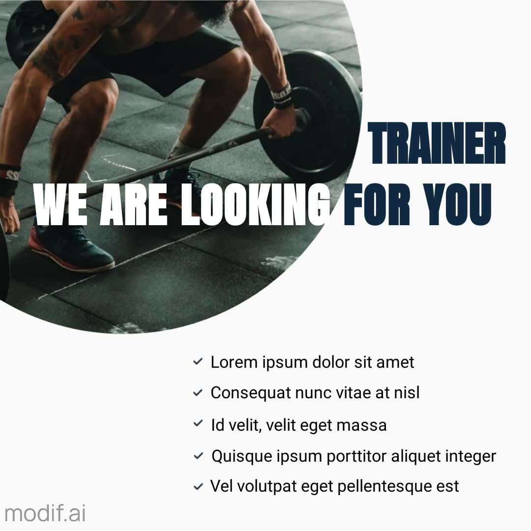 Looking For Trainer Instagram Post