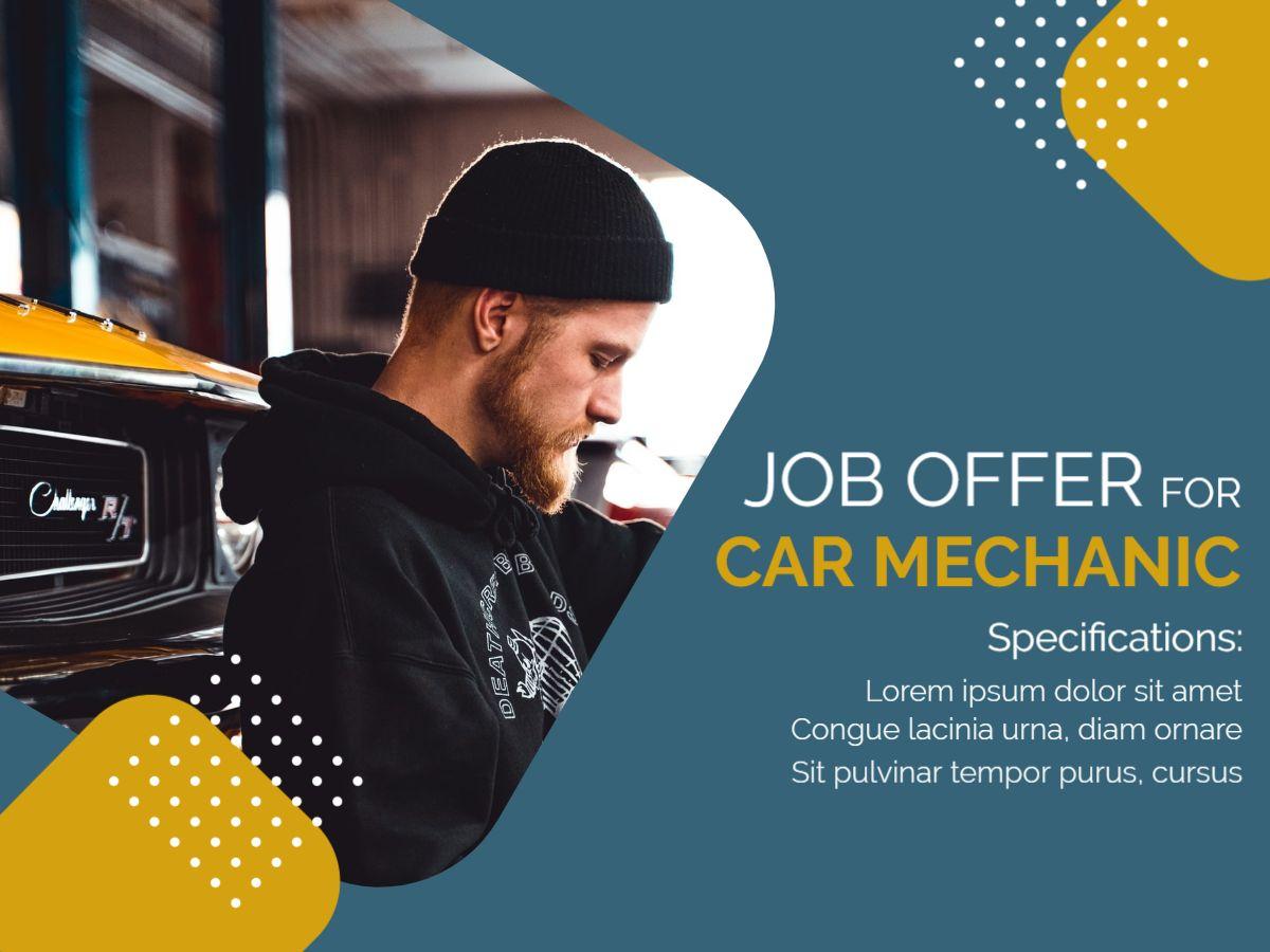 Job Offer For Car Mechanic Facebook Post