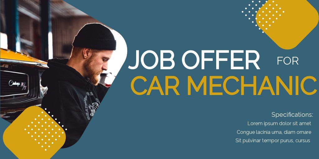 Job Offer For Car Mechanic Twitter Post