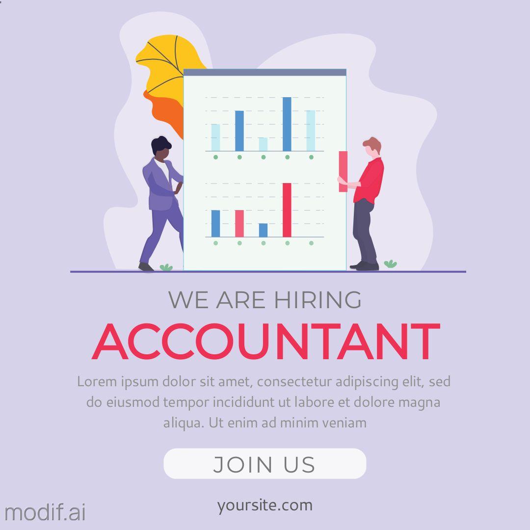 Accountant Job Offer Instagram Post