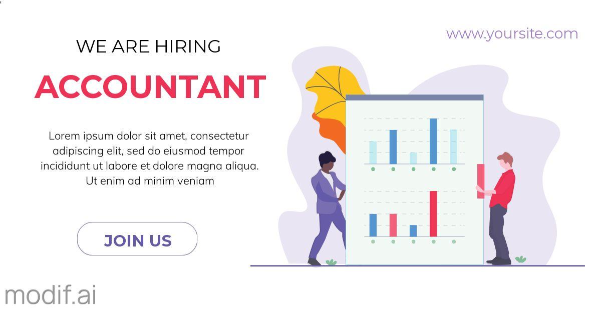 We Are Hiring Accountant LinkedIn Post