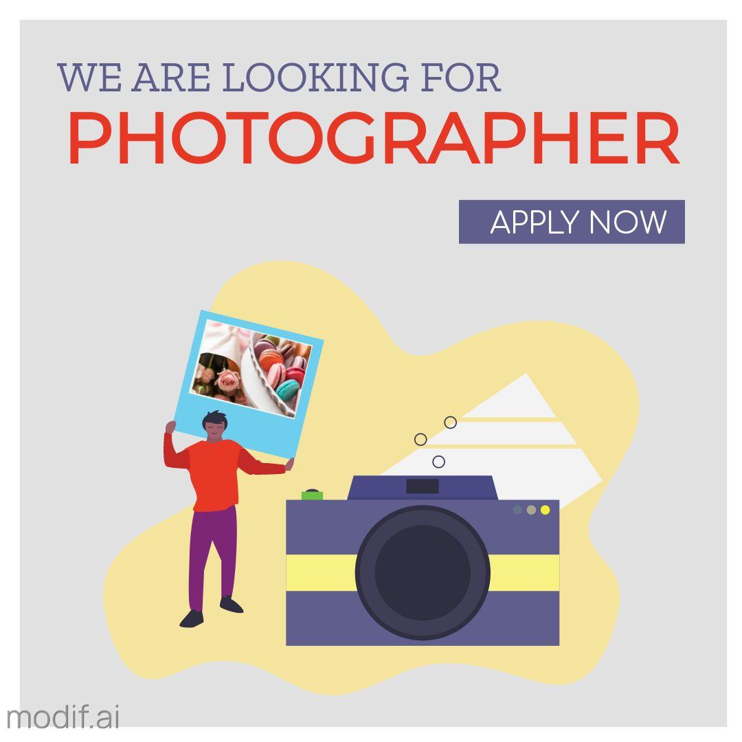 Hiring Photographer Instagram Post