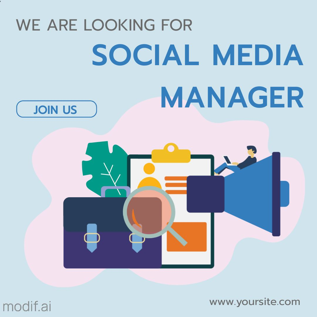 Wanted Social Media Manager Instagram Post
