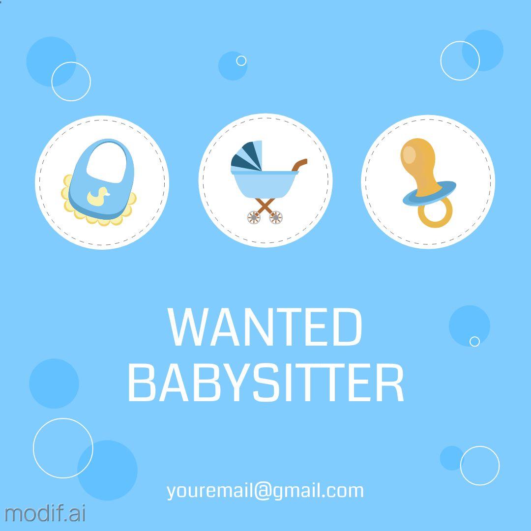 Wanted Babysitter Instagram Post