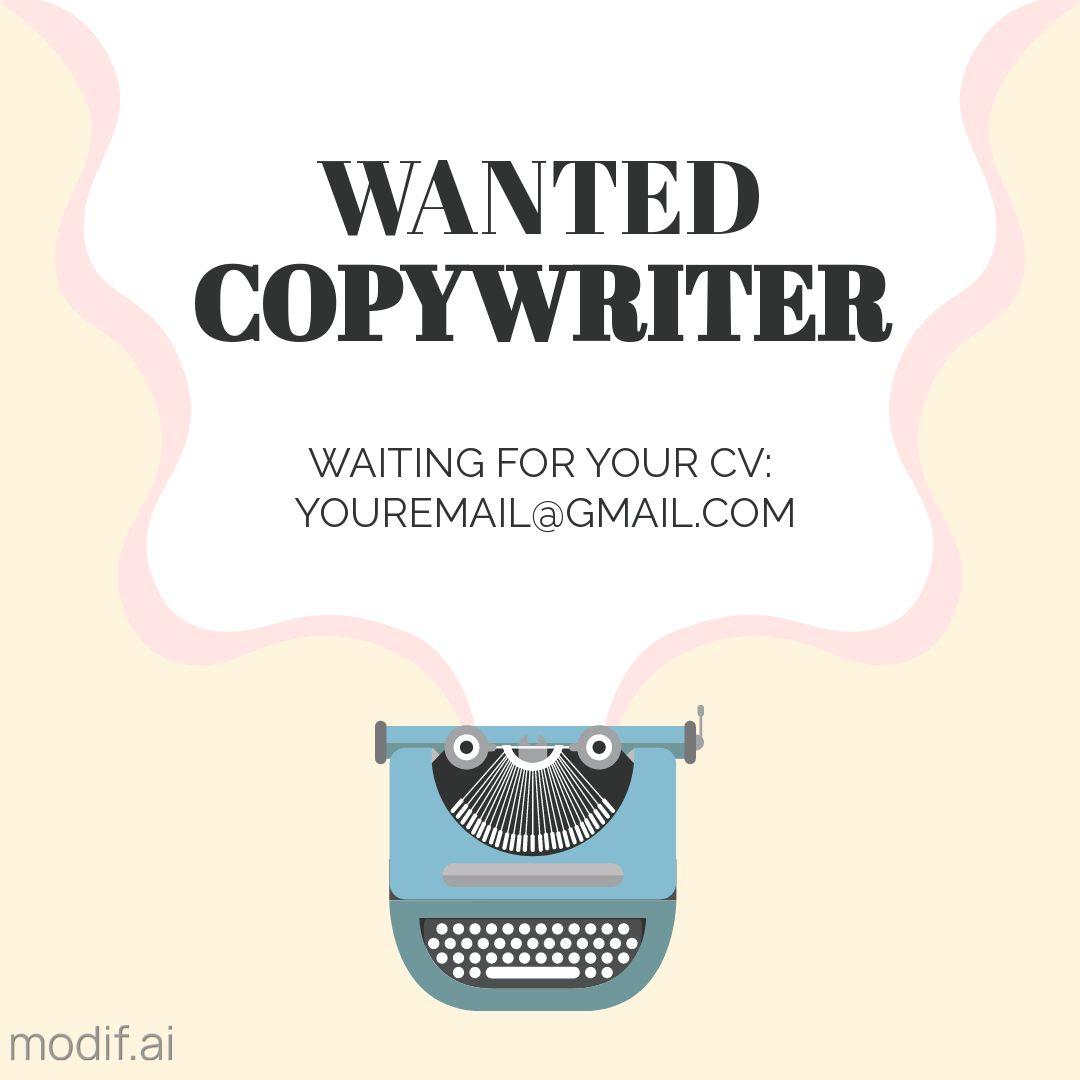 Wanted Copywriter Instagram Post