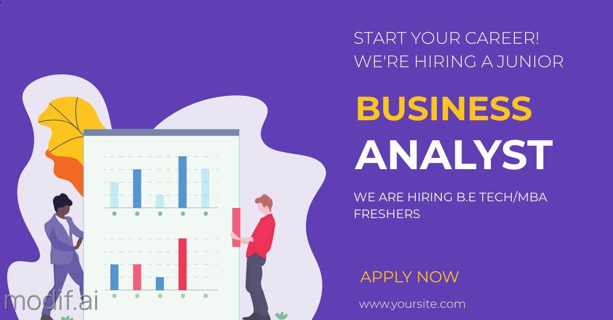 Business Analyst Hiring LinkedIn Post