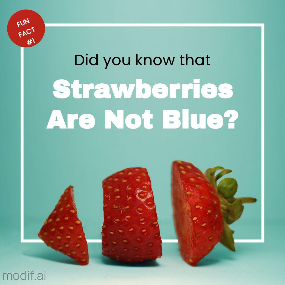 Funny Fact Strawberries Instagram Post