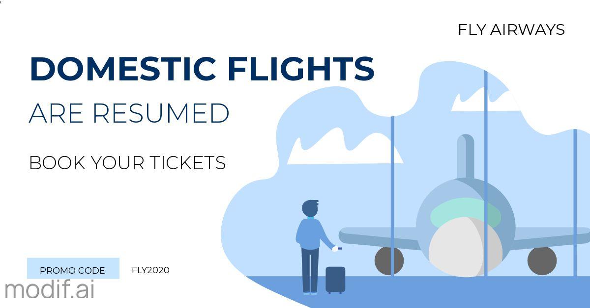Airline Banner LinkedIn Post Template