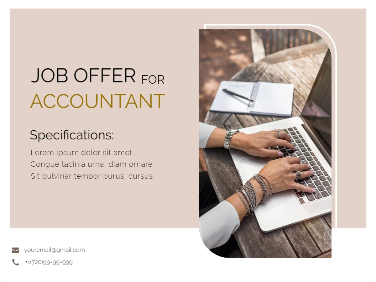 Job Offer for Accountant Facebook Post