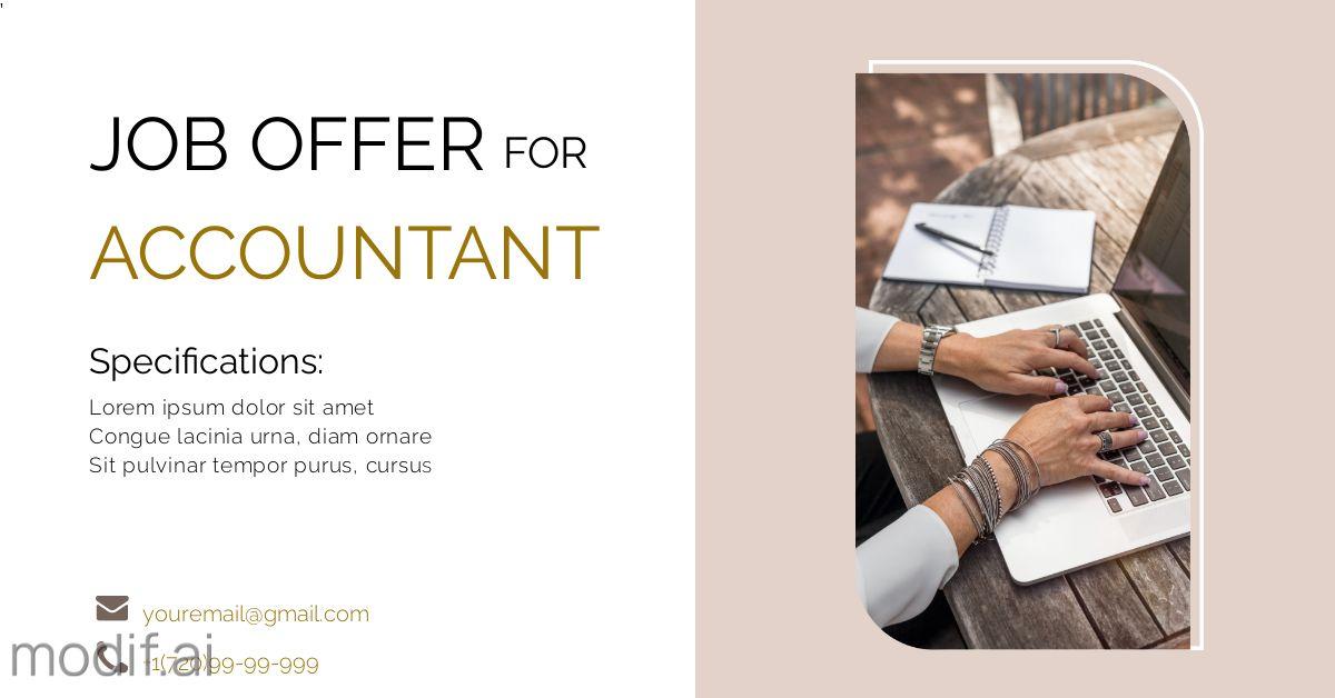 Job Offer for Accountant LinkedIn Post