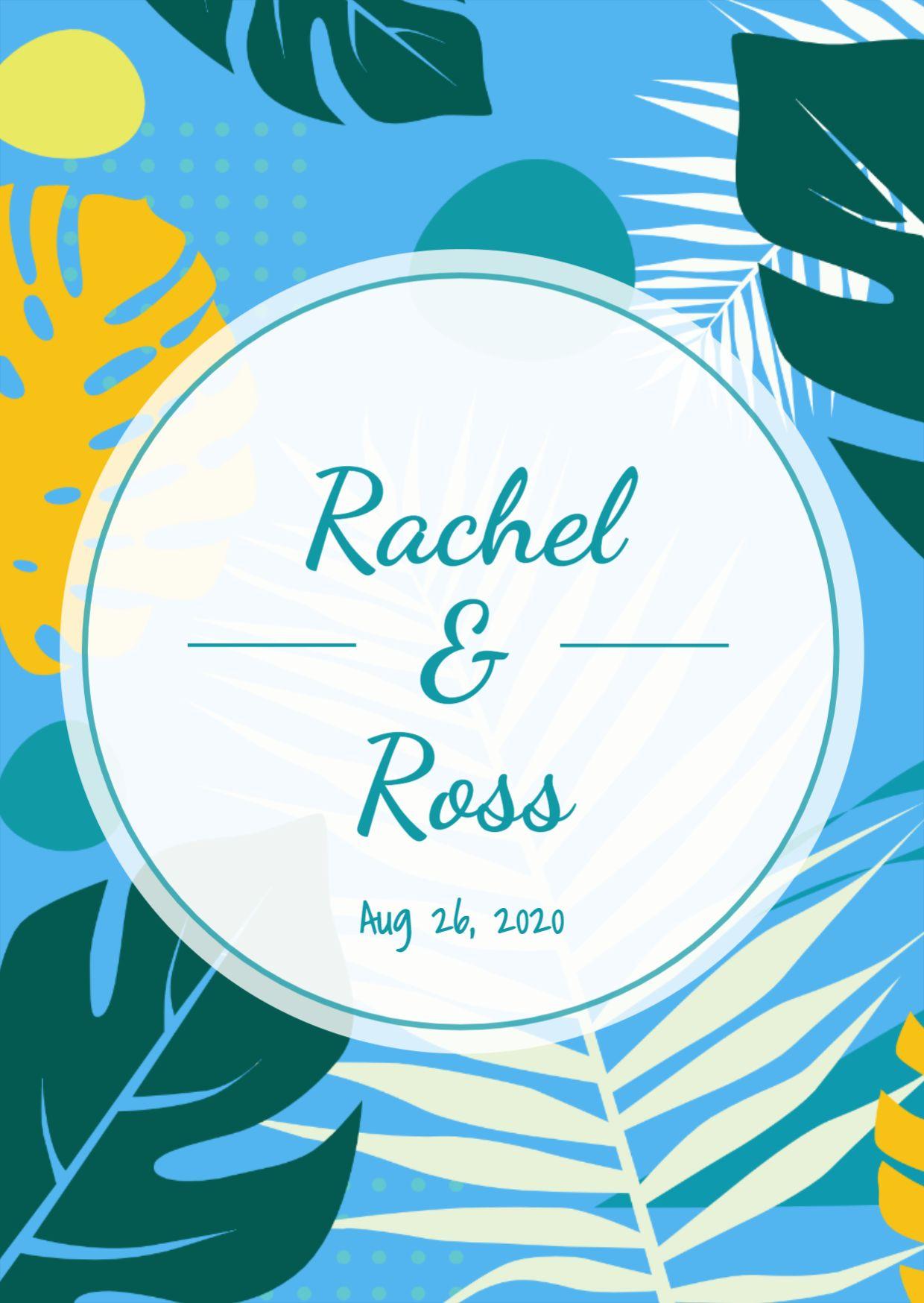 Wedding Label Card Template