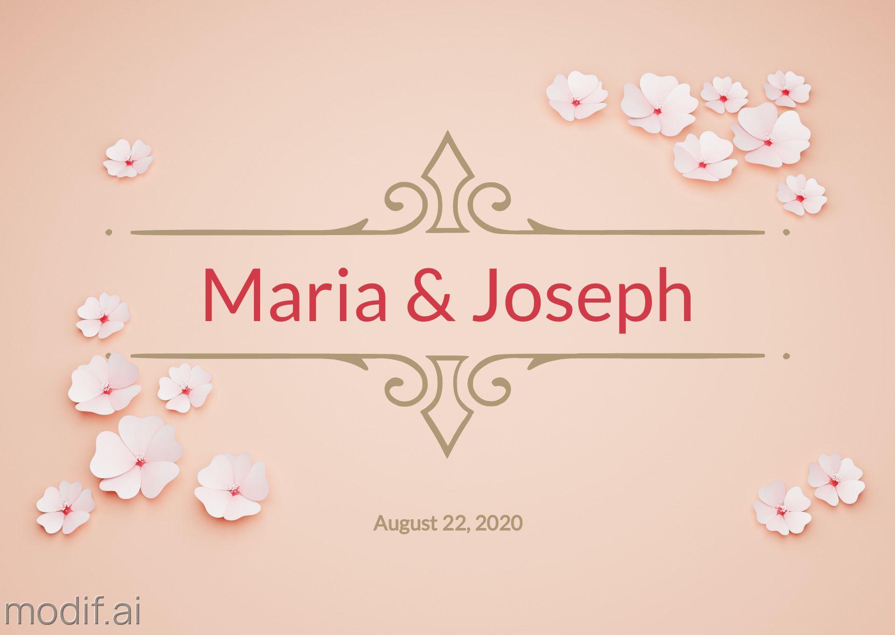 Wedding Date Greeting Card