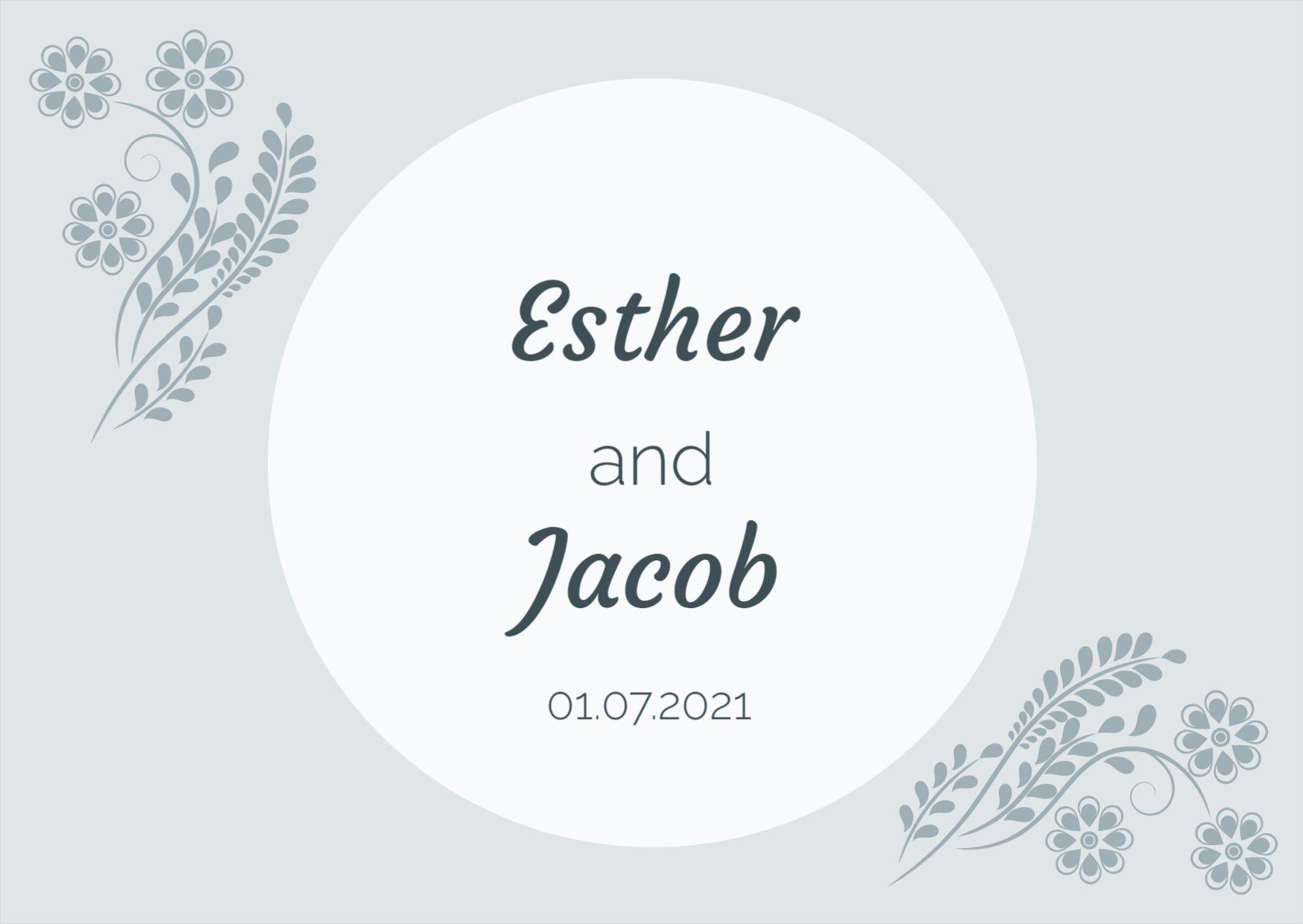 Minimalist Wedding Label